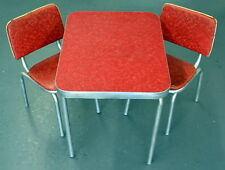 1950s GATE CITY CO. Inc DUCHESS LINE Formica TABLE SET with 2 Chairs
