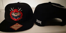 Doom Caco Demon Bethesda Video Game Snap Back Black Hat Nwt