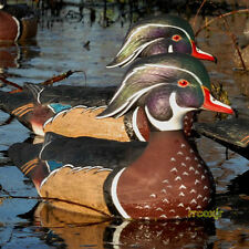 AVERY GREENHEAD GEAR GHG PRO-GRADE LS WOOD DUCK DECOYS WEIGHTED KEELS 6 NEW!