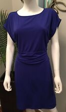Ann Taylor-GORGEOUS-Royal Blue Fully Lined-Figure Flattering  Dress-SZ-XS