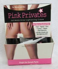 Pink Privates Intimate Area Lightening Cream Display & 50 Packs Unisex Skin Gel