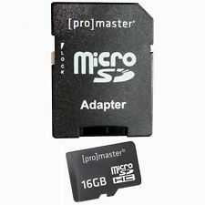 Promaster 16GB MICRO SDHC High Speed Memory Card Class 10 #3819 for GoPro