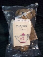 "Boyds Bears NEW 6"" Greeting Card Teddy Bear ** Verna **   'Each friend is a..'"