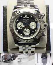 BREITLING AB0110 CHRONOMAT 44 BLACK DIAL STAINLESS STEEL MENS WATCH