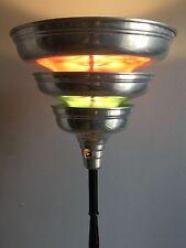Vintage 1930s/40s ART DECO Machine AGE Chrome TORCHIERE Floor LAMP Rohde Era 1/2