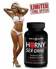 "Female Stamina - ""Horny Sex Drive"" (1 Bottle, 60 Tablets)"