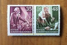 EBS East Germany DDR 1953 Karl Marx Year Zusammendruck MNH Michel 390/391**