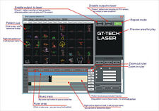 ISHOW versione 3.01b ILDA laser show software incl. USB ILDA interface