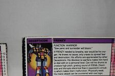 1984 Hasbro G1 Transformers Decepticon Frenzy **Tech Specs ONLY**