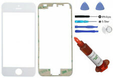 White front glass lens mid bezel frame iphone 5S replacement Tool + UV LOCA Glue
