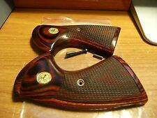 COLT PYTHON ROSEWOOD GRIPS W/ FACTORY GOLD MEDALLIONS W/CHECKERING & DIAMOND