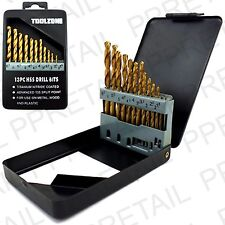 13Pc QUALITY TITANIUM HSS TWIST DRILL BIT SET 1.5-6.5mm +CASE Plastic/Wood/Metal