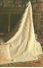 *Winter White Afghan & Pillow crochet PATTERN INSTRUCTIONS