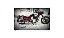 1954 Puch Sgs Bike Motorcycle A4 Retro Metal Sign Aluminium