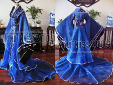 China Kimono Lilac Fairy Black Blue Brocade Dress Cosplay Custom Made Han Fu
