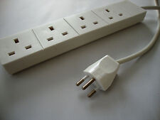 Swiss plug to 4 way UK adaptor extension lead / cord (Switzerland)