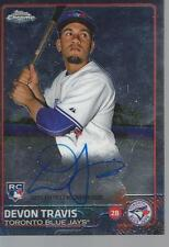 devon travis signed card autographed toronto blue jays auto mlb rookie rc topps
