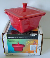 Belk Store Exclusive Fiesta  Square Covered Box, Candy Dish Scarlet New In Box