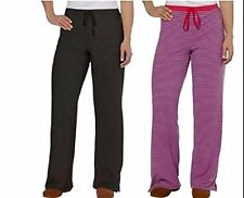 Karen Neuburger Womens 2 Pack Pajama Bottoms Gray/ Maroon Stripe Size L NWOT