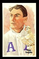 Baseball Hall of Fame postcard Perez Steele 1st Series Nap Lajoie Oakland A's