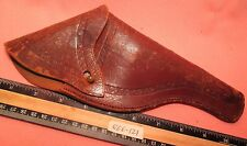 ANTIQUE Leather FLAP Style w/ Nub GUN PISTOL HOLSTER Chain Embossed MAKE OFFER