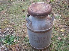 Vintage Primitive Rustic Rusty Dairy Milk Can Pet Milk Cold Water Ohio 24.5 tall