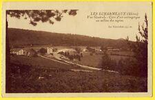 cpa LES ÉCHARMEAUX (Rhône) Vue générale CURE d'air Mont TOURVÉON le NOUVEL HÔTEL