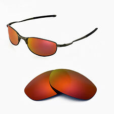 Walleva Polarized Fire Red Replacement Lenses For Oakley Tightrope Sunglasses