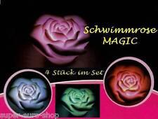 LED Schwimmrose Magic mit Farbwechsel 4 Stück im Set