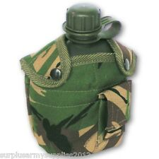 ARMY STYLE CADET WATER BOTTLE KIDS CAMPING WATER CANTEEN MILITARY DPM TACTICAL
