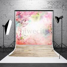 5X7FT Pink Flower Photography Background Cloth Backdrop Photo Prop For Studio