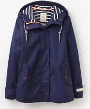 NEW Ladies JOULES French Navy COAST (W) Waterproof Hooded Jacket Size 20