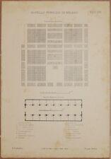MACELLO PUBBLICO DI MILANO MILAN SLAUGHTERHOUSE 1890 CIRCA ARCHITETTURA ART