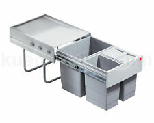 HAILO 3642-13 TANDEM TRIPLE WASTE BIN FOR CABINETS-UNDER SINK