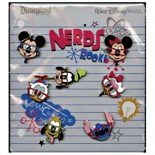DISNEY Booster Pins Set NERDS ROCK Heads Mickey Mouse, Donald  +++ NEW