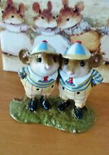 "Wee Forest Folk AIW-05 ""Tweedle Dee & Dum"" ALICE IN WONDERLAND LTED EDITION Mint"