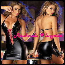 Margaret Sexy Hot ROBES Lingerie PVC Club Gown Leather Latex Toy Club Mini Set