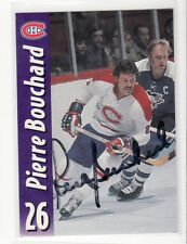 PIERRE BOUCHARD MONTREAL CANADIENS  AUTOGRAPHED CARD