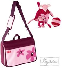 Sigikid Luxury Pink/Purple Baby Changing Bag with pockets and soft toy set BNWT