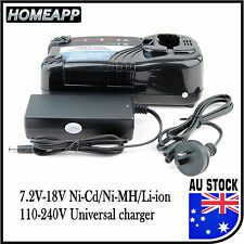 AU Battery Charger for Hitachi 7.2V 9.6V 12V 14.4 18V Ni-MH Li-ion 240V UC18YRL