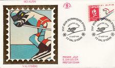Enveloppe 1er Jour VAL D'ISERE 17/08/1991 ski alpin 16è jeux olympiques d'hiver