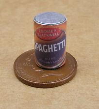 1:12 vacíe Espagueti Lata Casa de muñecas en miniatura de cocina Accesorio de alimentos Pasta