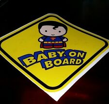 SUPERMAN Baby Sign Cute BABY ON BOARD WINDOW DECAL SIGN STICKER WARNING VINYL
