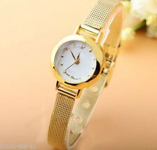 GOLD  MESH STRAP SMALL DIAL UNIQUE STYLE HOT SELLING  WOMEN'S WRIST WATCH