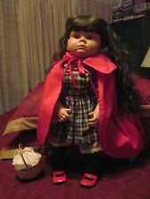 "Johannes ZOOK Kids 22"" Little Red Riding Hood Vinyl Doll..Fully Clothed..COA"