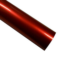 50cm x 1.52M Glossy Metallic Red Vinyl Car Wrap Air Release Free Squeegee