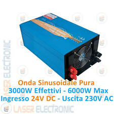 Power Inverter New Energy 3000W Onda Sinusoidale Pura da 24V DC a  220-230V AC