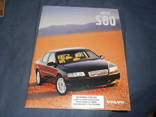 2000 Volvo S80 Full Line USA Market Color Brochure Catalog Prospekt