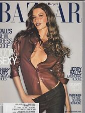 AUG 1999 HARPERS BAZAAR womens fashion magazine JERRY HALL