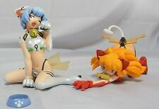 Evangelion Extra Aero Cat Figures Rei Ayanami & Asuka Langley Completed Set New